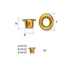 OCCHIELLI 130-051 OTTONE 100PZ